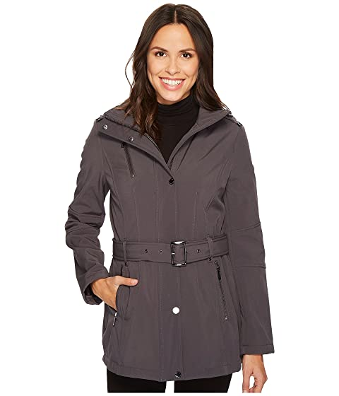 Snap Front Belted Softshell M522207C, Charcoal