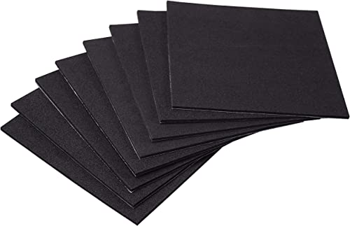 XCEL Value Pack,Neoprene Foam Anti Vibration Pads with Adhesive 6 in X 6 in X 1/8 in, Shock Absorbing Material, Made ...