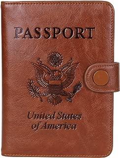 Rfid Blocking Passport Holder for Women Travel Accessories Passport Cover Leather Wallet, 03 Brown