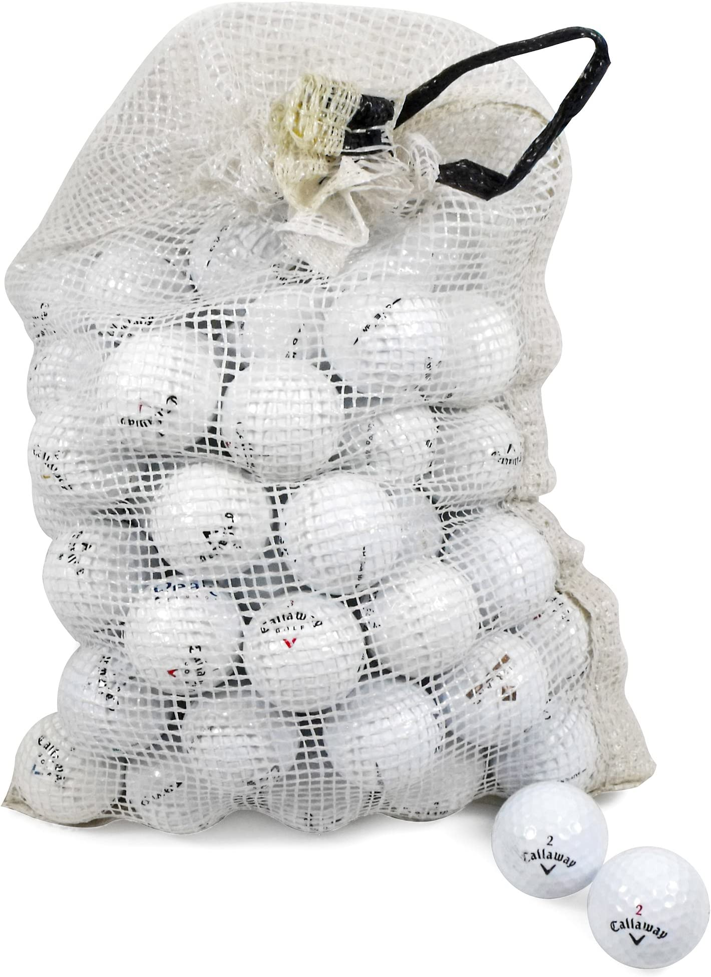 Callaway Assorted Models Recycled B/C Grade Golf Balls in Onion Mesh Bag (72-Piece), White