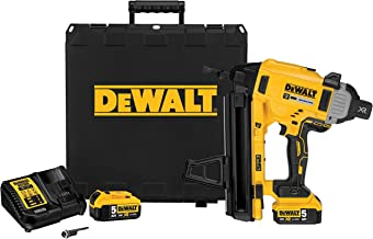 Dewalt DCN890P2-QW Nagler Beton/staal XR 18 V 5 Ah - DCN890P2-QW - draadloze nagel met koffer, 2 accu's en oplader - zonde...