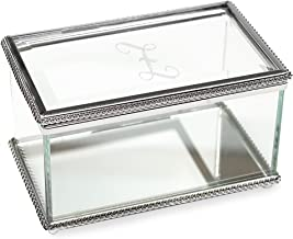 Cathy's Concepts Personalized Beveled Glass Jewelry Box, Letter Z