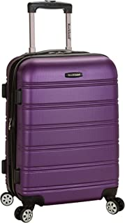 "Rockland Melbourne 20"" Expandable Abs Carry on, Purple (Purple) - F145"