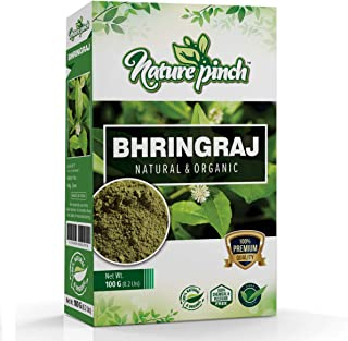 Nature Pinch 100% Natural Organic Bhringraj Powder For Hair Growth 100Grm