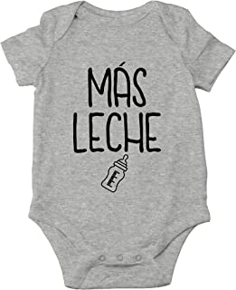 Mas Leche - More Milk, Funny Spanish Hungry Baby - Cute One-Piece Infant Baby Bodysuit