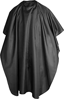 TRIXES Black Full Length Cape Unisex Professional Barbers Hairdressers Gown for Hair Styling, Cuts and Colours