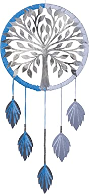 Luxury Glossy Reflective Silver Tree of Life Bodhi Dream Catcher Precision Laser Cut Mirror-Surface Acrylic Silver Tree and H