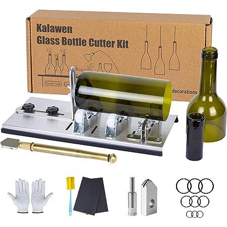 ZUOS Glasschneider-Werkzeug Spiegeln etc. Fensterscheiben 6-fach Schneidrad Regalen Glasschneider - perfekt zum Schneiden und Ritzen von Glasflaschen