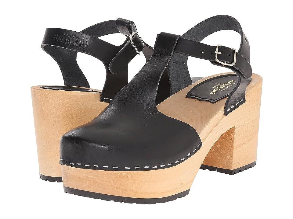 Vintage Sandal History: Retro 1920s to 1970s Sandals Swedish Hasbeens Lotta Black High Heels $239.00 AT vintagedancer.com