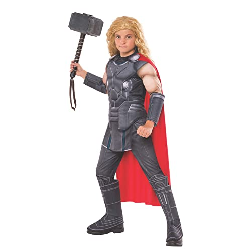 33529881c876 Rubie's Official Marvel Ragnarok Thor, Deluxe Child Costume - Large age  8-10,