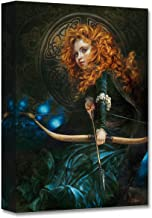 Disney Fine Art Her Father's Daughter by Heather Theurer Treasures on Canvas 16 Inches x 12 Inches Brave Merida Reproduction Gallery Wrapped Canvas Wall Art