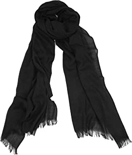 Love Lakeside Solid Color Large, Long Scarf Shawl with the Quality, Couture Look of Cotton and Feel of Silk