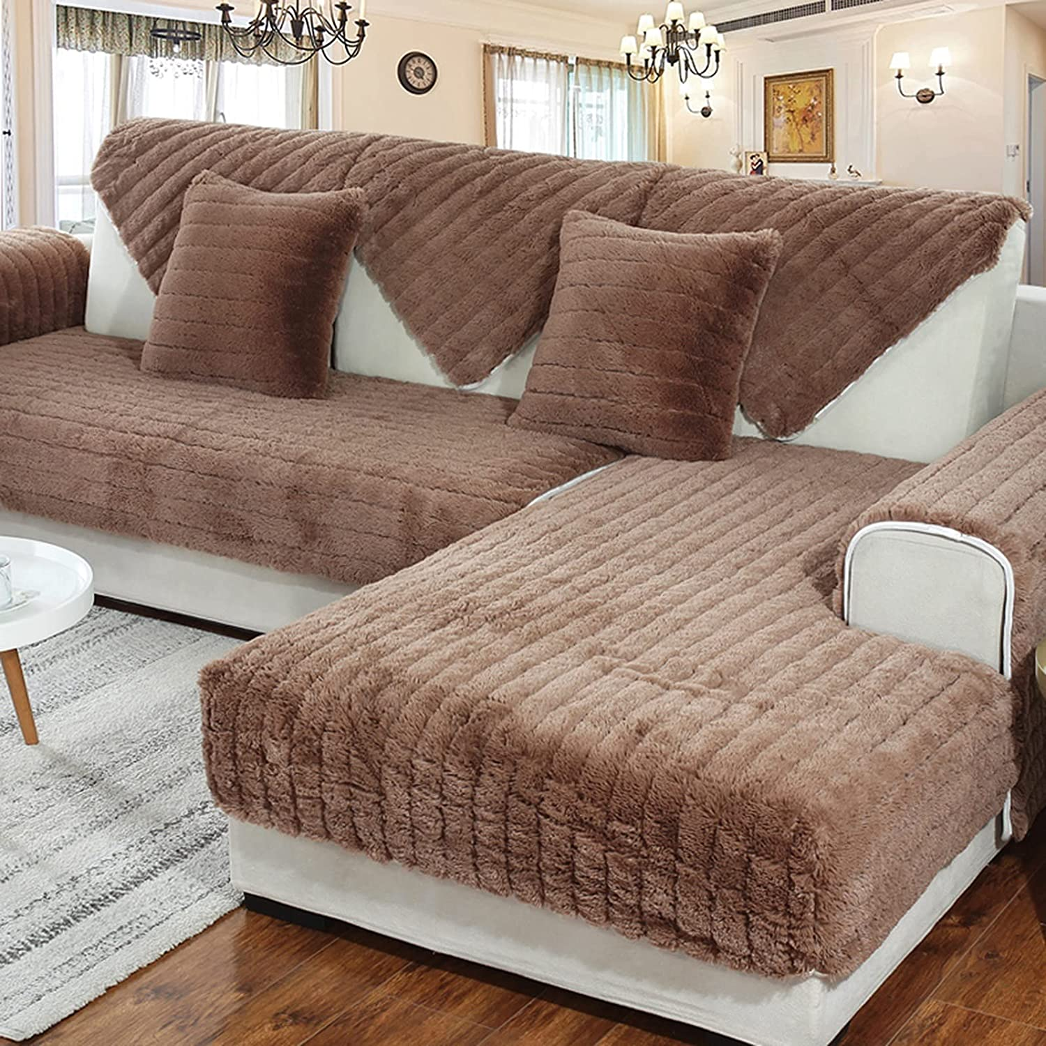 ZYZCJT Plush Couch Cover1 Soft Sold Quantity limited 1 Cover by Sofa Ultra-Cheap Deals