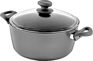 Saflon Titanium Nonstick 8-Quart Stock Pot with Tempered Glass Lid, 4mm Forged Aluminum with PFOA Free Coating from England