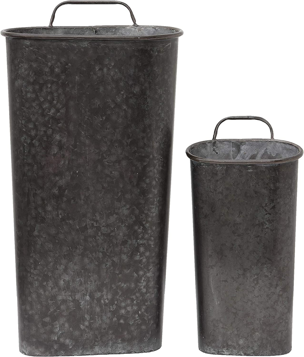 Shipping included Creative shopping Co-Op Tin Wall Buckets with Sizes Set Handles 2 of