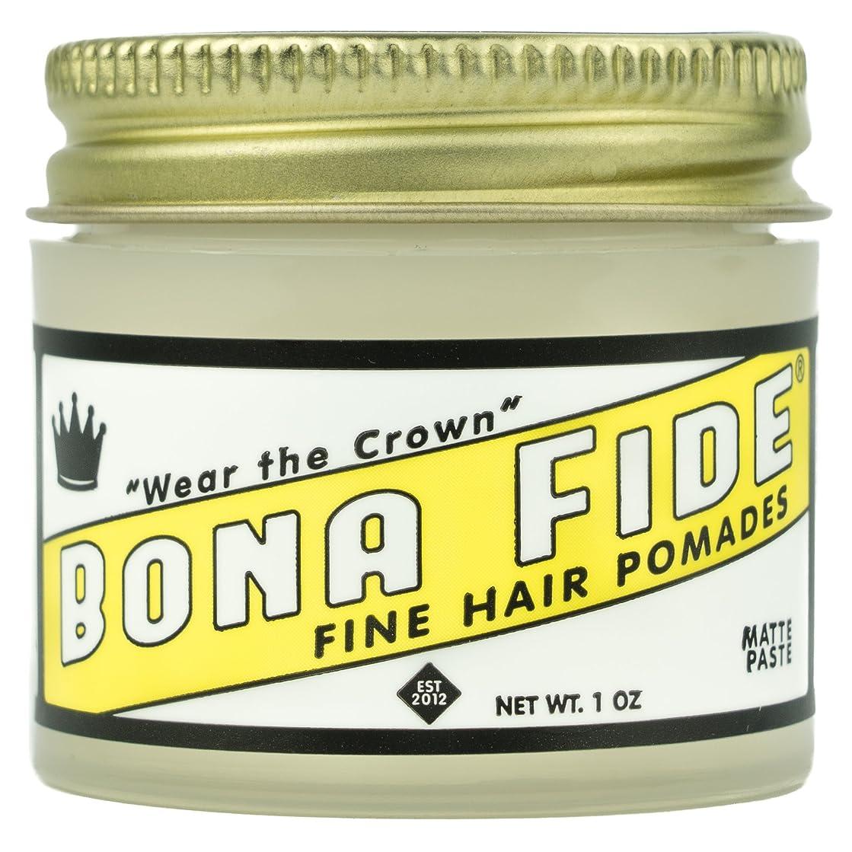 ワット目的定数Bona Fide Pomade, マットペースト 1oz (28g) / トラベルサイズ,水性/グリース