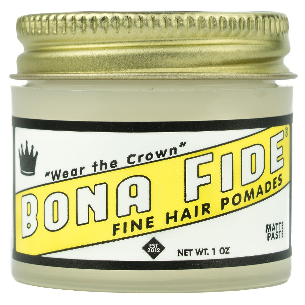 マーカー共感する意気揚々Bona Fide Pomade, マットペースト 1oz (28g) / トラベルサイズ,水性/グリース