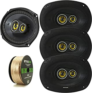 "Car Speaker Package of 4X Kicker 450-Watt Peak Power 6"" x 9"" Inch CS Series 3-Way 4 Ohm Car Audio Speakers - Bundle Combo ... photo"