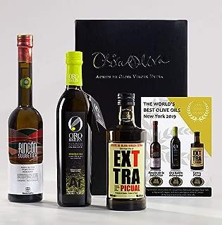 Medalla de Oro Nueva York 2019 – Premio Mejores aceites de oliva virgen extra del mundo – Exttra Picual, Oro Bailén Arbequina y Rincón de la Subbética, por Oliva Oliva