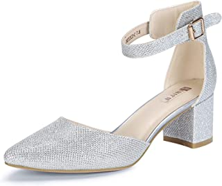 Silver Closed Toe Dress Shoes