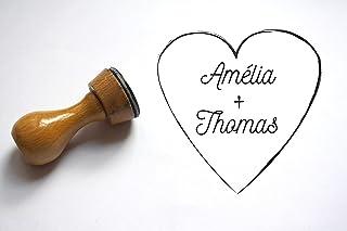 Timbro cuore matrimonio personalizzato con nomi