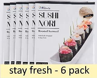 Kim's  Premium Sushi Nori Roasted Seaweed 6 Packs