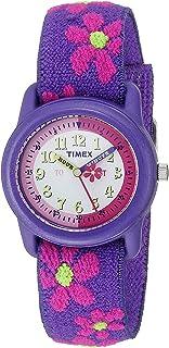 Girls Time Machines Analog Elastic Fabric Strap Watch