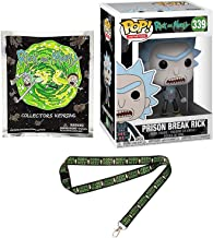 Break it #339 Rick & Morty Prison Pop! Vinyl Character Pack Bundled with + Mini Figure Collectors Key Ring Blind Bag + Mr Poopy Butthole Ooh Wee Lanyard 3 Items