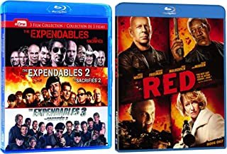 The Expendables 1-3 and Red: 4 Movie Action Blu-ray Collection