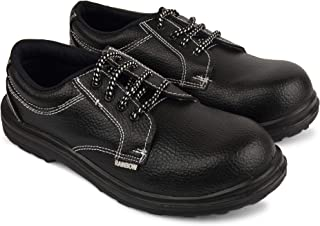 Aktion Safety Synthetic Leather Shoes RA-550 - Size 8, Black