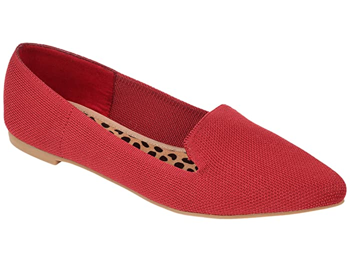 Retro Vintage Flats and Low Heel Shoes Journee Collection Comfort Foam Vickie Flat Red Womens Shoes $49.99 AT vintagedancer.com