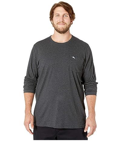 Tommy Bahama Big & Tall Big Tall New Bali Skyline Long Sleeve T-Shirt (Charcoal Heather) Men