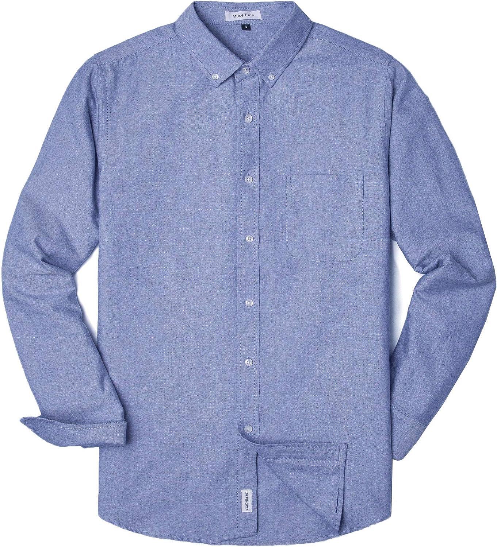 Max 74% OFF MUSE Sale SALE% OFF FATH Men's Oxford Dress Lon Shirt-Cotton Fit Regular Casual