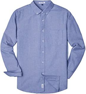 MUSE FATH Men's Oxford Dress Shirt-Cotton Casual Regular Fit Long Sleeve Shirt