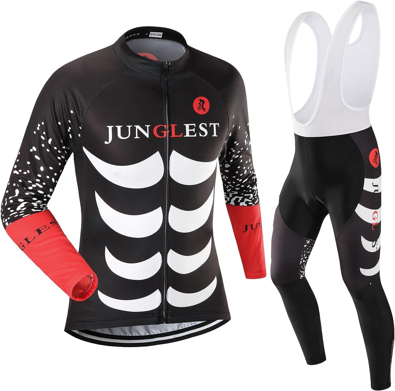 JUNGLEST Ranking TOP16 Cycling Jersey Lowest price challenge Set Wen 3D S~5XL Sleeve Long Option:bib
