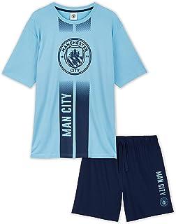 Manchester City F.C. Mens Short Pyjamas, Football PJs, Man City Gifts for Men