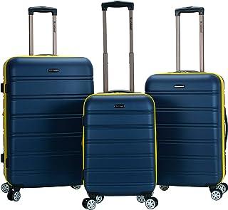 Rockland Melbourne Hardside Expandable Spinner Wheel Luggage, Navy, 3-Piece Set (20/24/28)