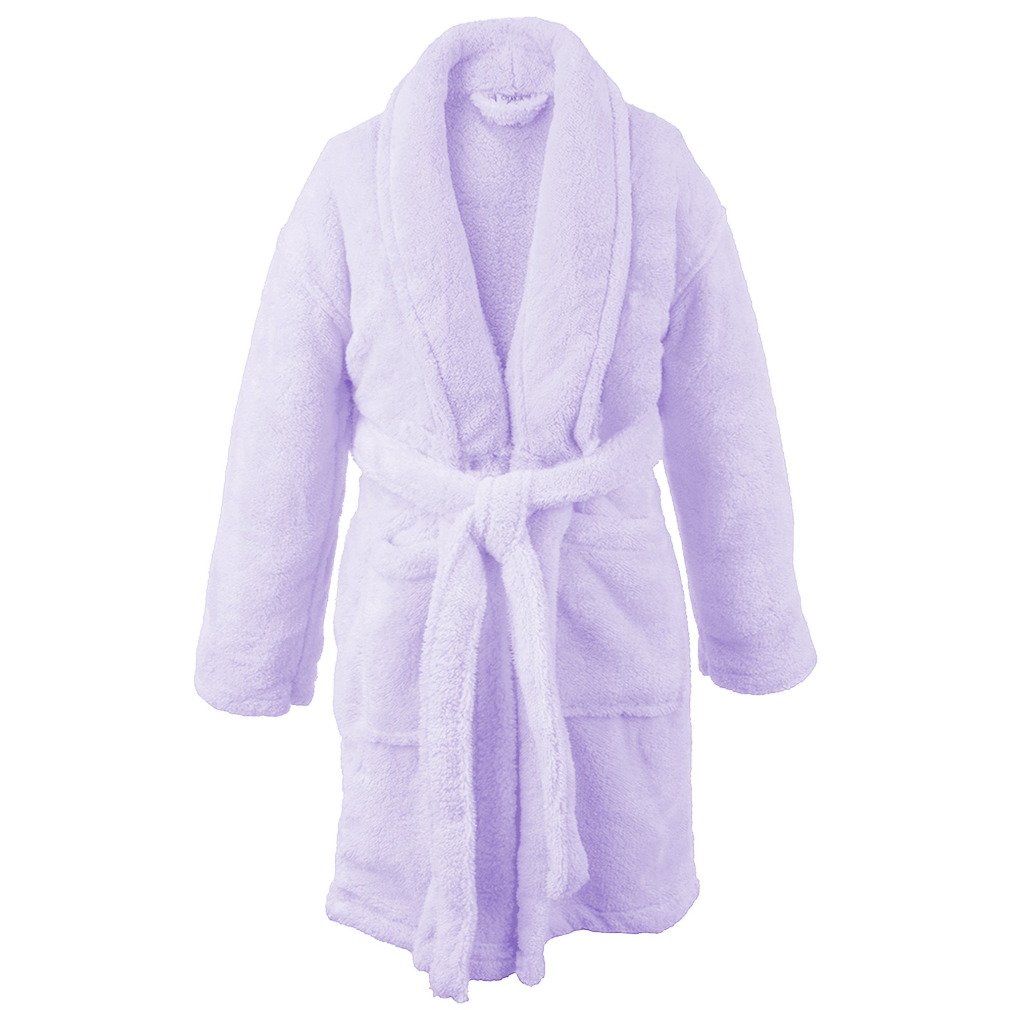 Image of A Fleece Favorite: Plush Lavender Robe for Girls - See More Colors