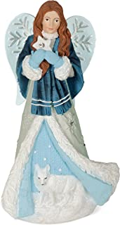 AngelStar Winter Angel - Hope Figurine, Light Blue