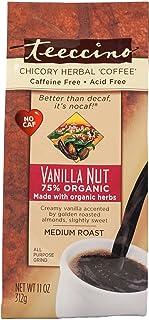 Teeccino Herbal Coffee, Mediterranean Vanilla Nut, Caffeine-Free, 11-Ounce Bags (Pack of 3)