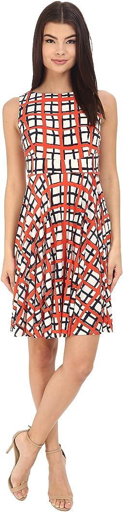 Sleeveless Printed Jersey with Circle Skirt