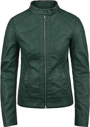 precio competitivo a439b a7ac4 Amazon.es: chaquetas cuero mujer - Verde