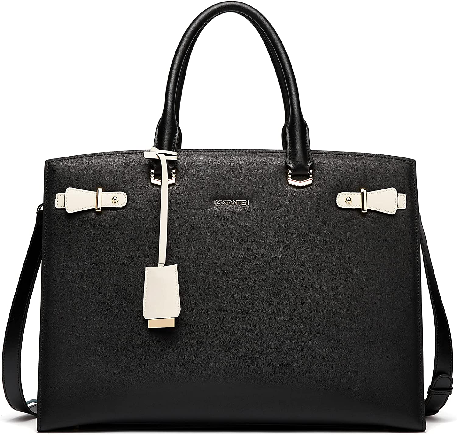 BOSTANTEN Womens Leather Briefcase 15.6 Inch Top-handle Max 64% OFF Laptop B All items free shipping