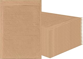 AMIFF Natural Kraft bubble mailers 14 x 20 Brown Padded envelopes 14 x 20 by Amiff. Pack of 10 Kraft Paper cushion envelopes. Exterior size 15 x 20 (15 x 20). Peel and Seal. Mailing, shipping.
