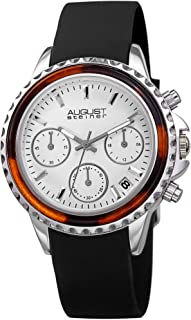 august Steiner Women's White Dial Silicone Band Watch - aS8268BK