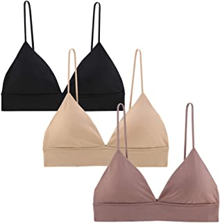 b8fa68dd05b4 INIBUD Bralette for Women Bra Seamless V Neck Triangle Removable Padded  Wire Free Pull On Bralettes