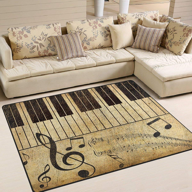 las mejores marcas venden barato Área Alfombra 80 80 80 x 58 Pulgadas Hipster Music Note Piano para Sala de Estar  mejor calidad