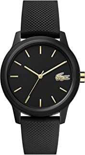 TR90 Quartz Watch with Rubber Strap, Black, 16 (Model:...