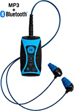 H2O Audio Stream 2 100% Waterproof MP3 Music Player with Bluetooth and Underwater Headphones for Swimming Laps, Watersports, Short Cord, 8GB