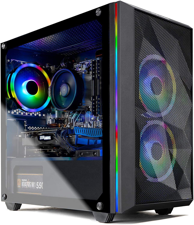 Skytech Chronos Mini Gaming PC Desktop - Intel Core-i7 9700KF 3.6GHz, RTX 2060 6GB, 16GB DDR4 3000, 1TB SSD, AC WiFi, Win 10 Home, Black